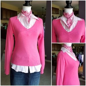 ZARA Pink V neck sweater from Spain